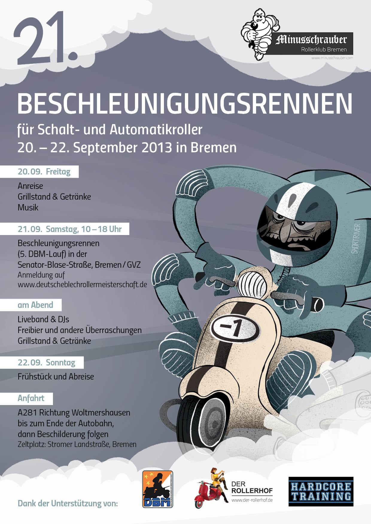 Flyer Minusschrauber Beschleunigungsrennen 2013