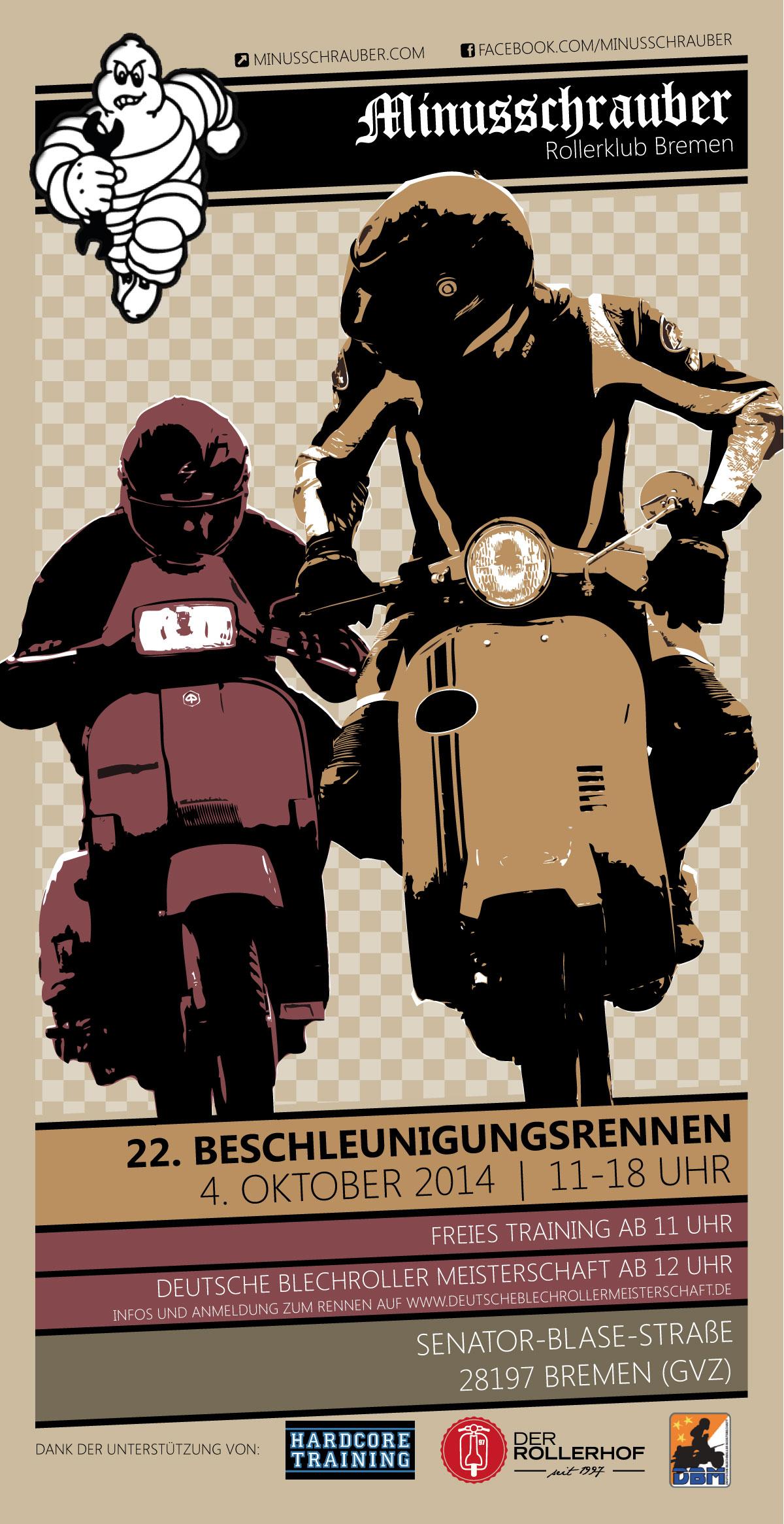 Flyer Minusschrauber Rollerklub Beschleunigungsrennen 2014